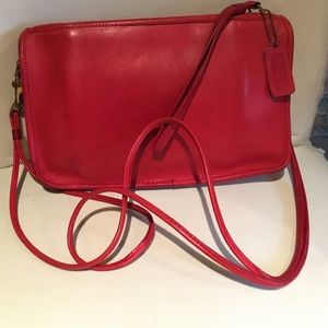 Vintage Bonnie Cashin COACH Red Purse Basic Bag